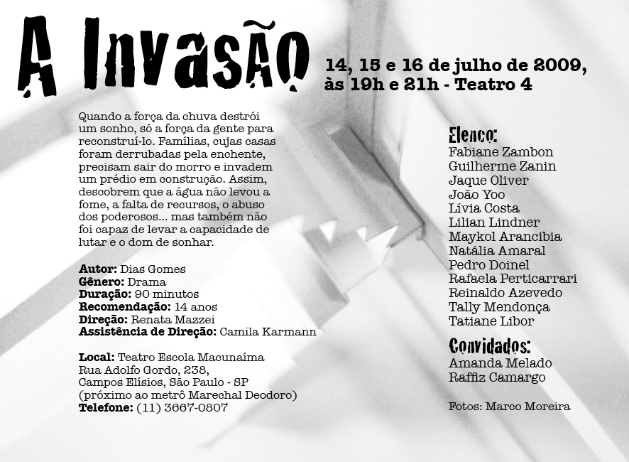Flyer Invasao verso