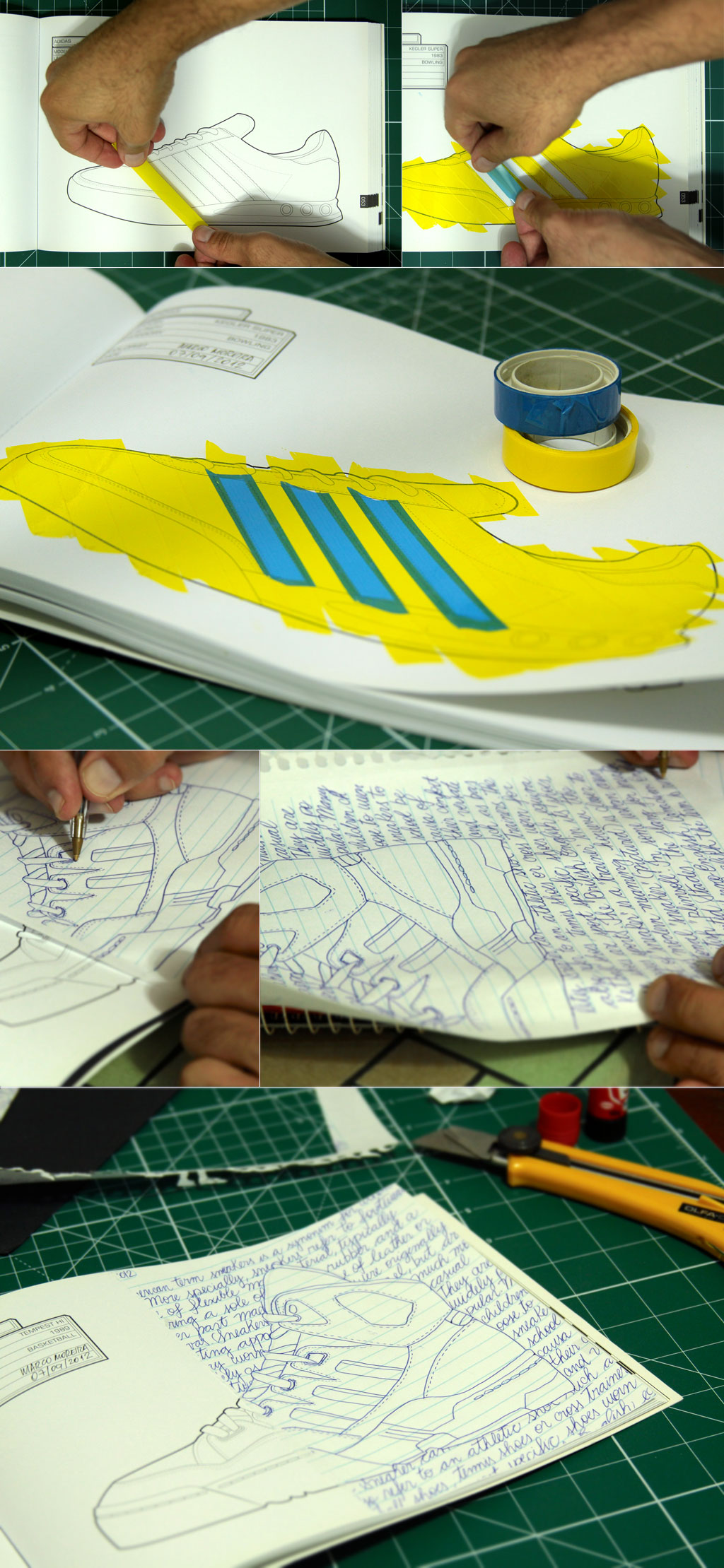 The Sneaker Coloring Book &gt; Making-of